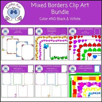 Mixed Borders Clip Art Bundle