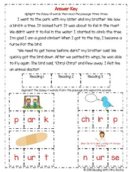 Mixed Bossy-R Reading Fluency and Phoneme Isolation