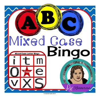 Mixed Case Letter Bingo for Practicing Upper and Lower-Case Letter Recognition!