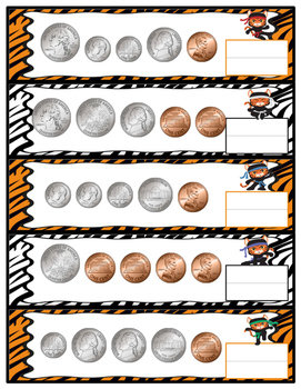 Mixed Coins Count in 1 Dollar Strips