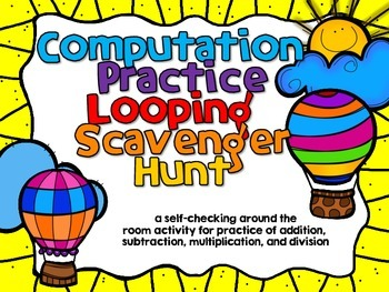 Mixed Computation Review Scavenger Hunt for Fourth Graders