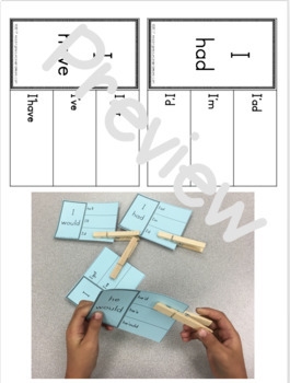 Mixed Contraction Practice - Printables and Activities