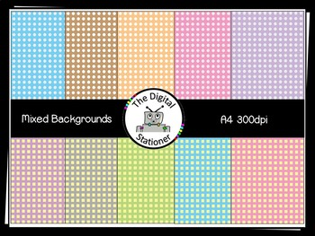 Mixed Designs -  360 Backgrounds A4 size