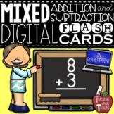 Mixed Digital Addition & Subtraction Flash Cards in PowerPoint