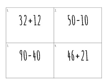 Mixed Double Addition and Subtraction Without Regrouping Write the Room