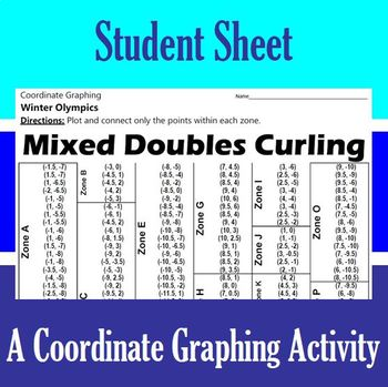 Mixed Doubles Curling - An Olympic Coordinate Graphing Activity