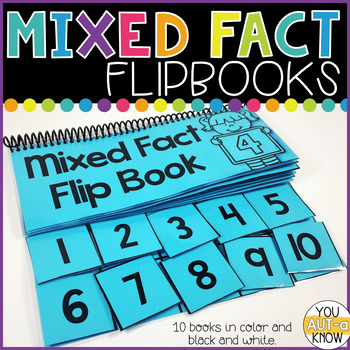 Mixed Fact Flip Books for Addition and Subtraction Facts within 10