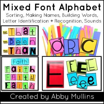 Mixed Font Alphabet Set | Activities
