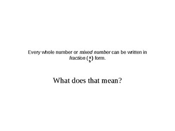 Mixed Form to Fraction Form