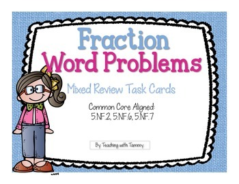 Fraction Word Problems {task cards}