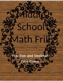 Mixed Fraction and Decimal Operations Dice Game