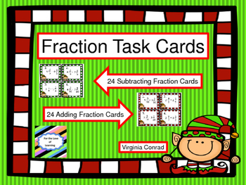 Mixed Fractions:  Add & Subtract--Christmas Elves Theme