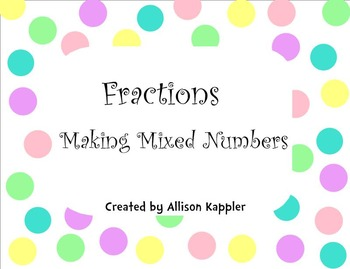 Mixed Fractions Smart Board Activity