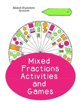 Mixed Fractions Spinner Activities Games -- Addition Subtraction PDF Printable