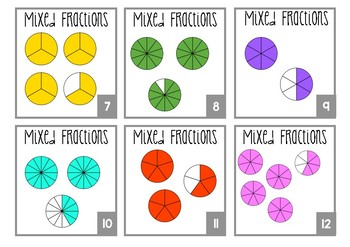 Mixed Fractions Task Cards
