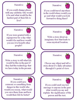 Mixed Genre Writing Prompts - Narrative, Informational and Persuasive BUNDLE