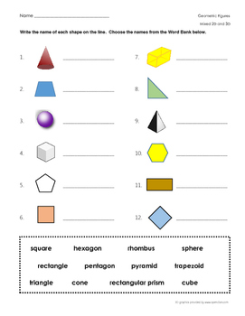 photo about Printable Geometry Shapes identify Combined Geometric Styles worksheet - 2D and 3D designs