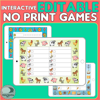 Mixed Groups Editable Board Games - No Print - Summer, Pirates & Animal Themed