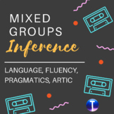 Mixed Groups Speech Therapy: Inference Packet for Artic, Language, & Fluency
