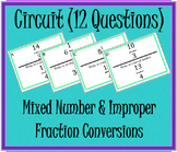 Mixed & Improper Fraction Circuit 12 Questions