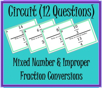 Mixed & Improper Fraction Circuit 12 Questions
