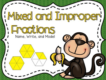 Mixed & Improper Fractions Powerpoint & Guided Notes