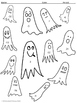 Mixed Integer Operations: Halloween Ghosts Color by Number