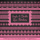 Mixed Lace Clipart Borders in Pink