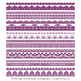 Mixed Lace Clipart Borders in Plum