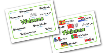 Mixed Language Welcome Signs