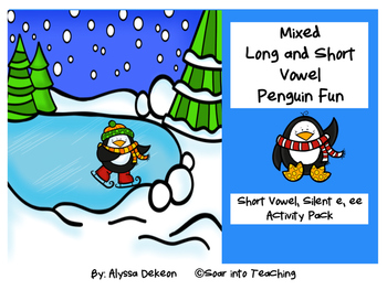 Mixed Long and Short Vowel Penguin Fun - FREEBIE PREVIEW