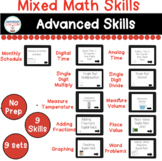 Mixed Math Advanced Skills Digital Tasks for Special Educa