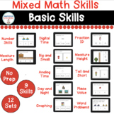 Mixed Math Basic Digital Tasks for Special Education