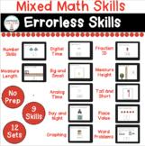 Mixed Math Errorless Digital Tasks for Special Education