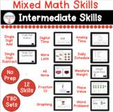 Mixed Math Intermediate Skills Digital Tasks for Special E