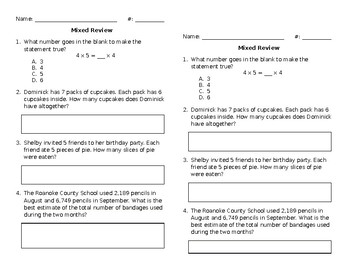 Mixed Math Review #16