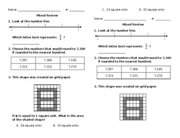 Mixed Math Review #40