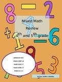 Mixed Math Review 4th/5th Grade