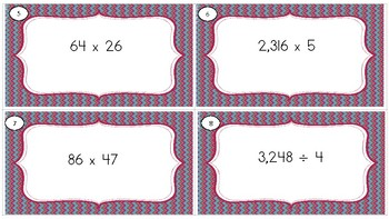 Mixed Math Review Task Cards