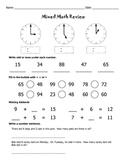 Mixed Math Review Worksheets / Math Worksheets / 2nd Grade / 3rd Grade