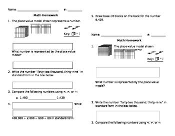Mixed Math Review (half sheet)