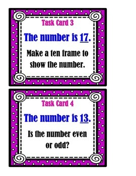Mixed Math Skills:  Working With Numbers - Task Cards