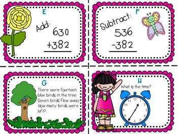 End of the Year Review Math Task Cards