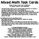 Mixed Math Task Cards: 3rd Grade Math Review
