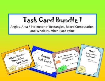 Mixed Math Task Cards Bundle
