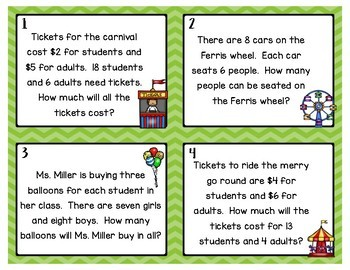 Multi-Step Word Problems: Addition, Multiplication & Subtraction