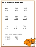 Mixed Math Worksheet Pack
