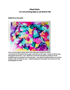 Mixed Media--Alcohol Ink Creations--gorgeous Christmas CD'