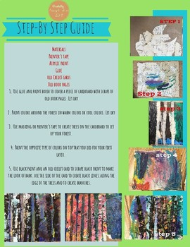 Mixed Media Forest Collage-Elementary Art