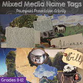 Mixed Media Name Tags - Back to School Activity